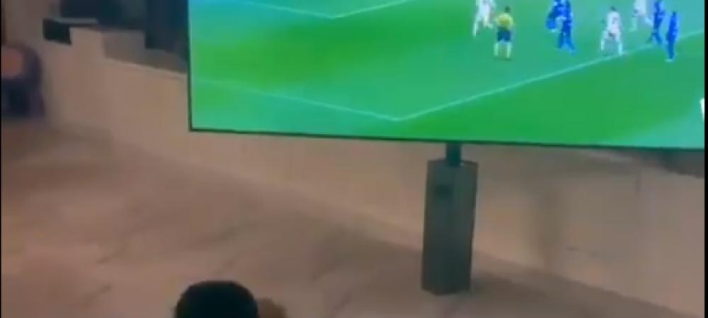 VIDEO: Reactia SENZATIONALA a fiului lui Cristiano cand starul portughez a inscris impotriva lui Inter in Cupa Italiei! Imaginile care fac inconjurul lumii
