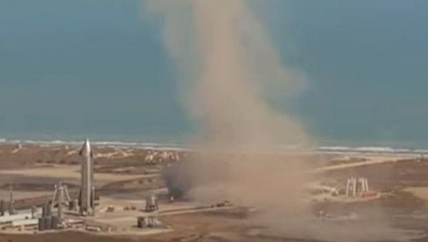 Au aruncat din nou cu milioanele in aer. Racheta spatiala a fost facuta praf si pulbere la aterizare. Imagini catastrofale