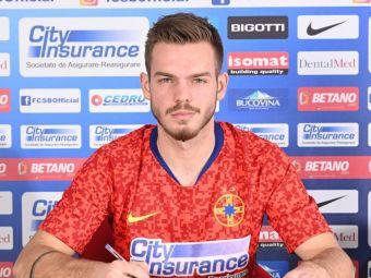 FCSB a anuntat OFICIAL transferul lui Harut! Primele imagini cu fundasul ros-albastrilor si prima declaratie