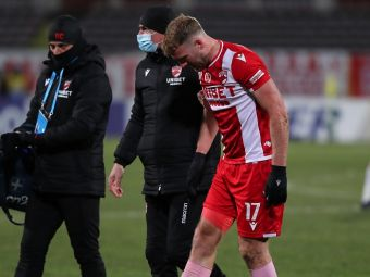 Ce lovitura pentru Dinamo! Cat de grava este accidentarea lui Nemec si cat va lipsi fotbalistul de pe teren