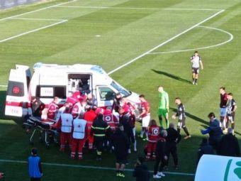 Momente de GROAZA in Italia! Un fotbalist s-a PRABUSIT pe teren in timpul meciului! Ambulanta a intervenit de urgenta