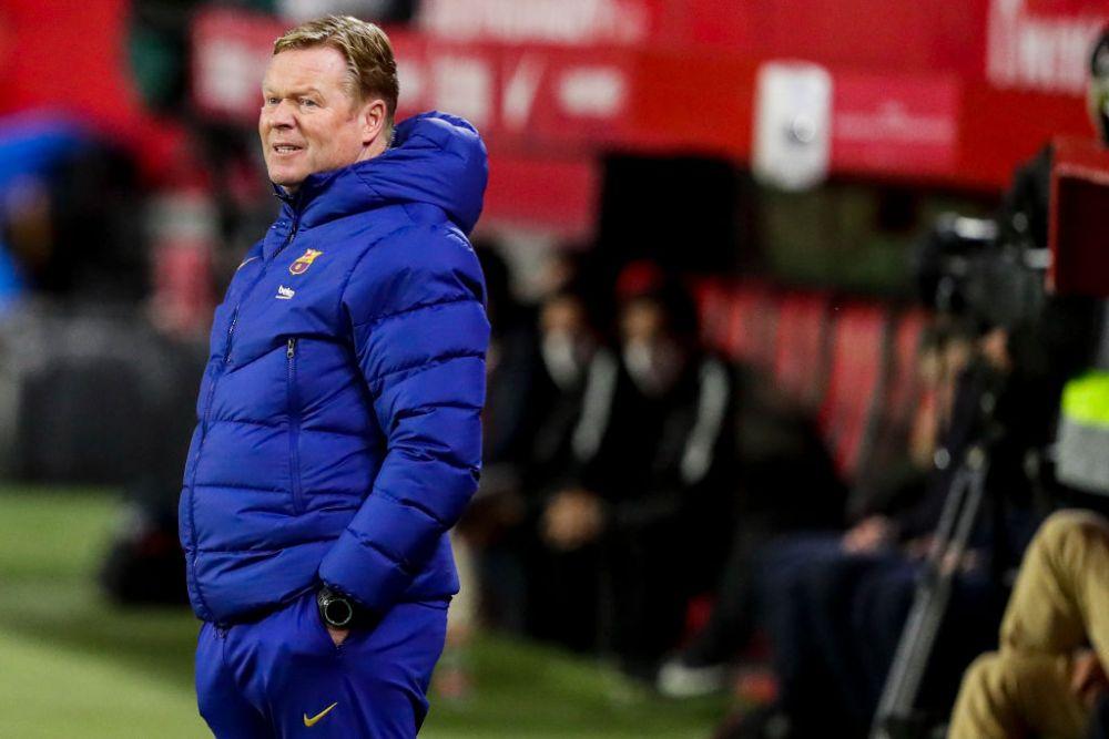 Ruptura TOTALA la Barcelona?! Gestul facut de Koeman la finalul meciului cu Cadiz care arata situatia de la club