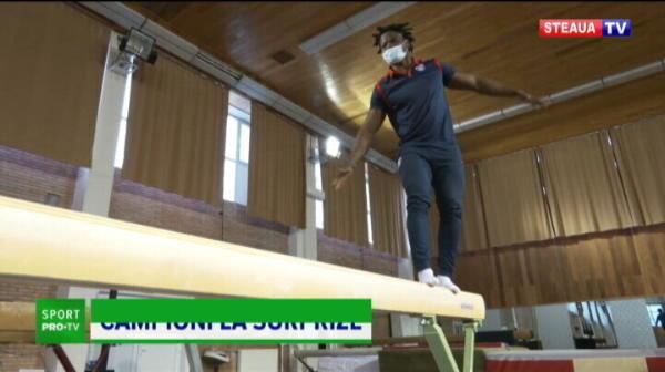 VIDEO GENIAL! Provocarea anului: un urias de la rugby pe BARNA de gimnastica! Ce a putut sa faca stelistul