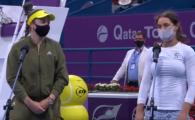 Monica Niculescu a jucat pentru prima oara la dublu alaturi de Ostapenko si a ajuns pana in finala la Doha! Ce a spus la finalul meciului
