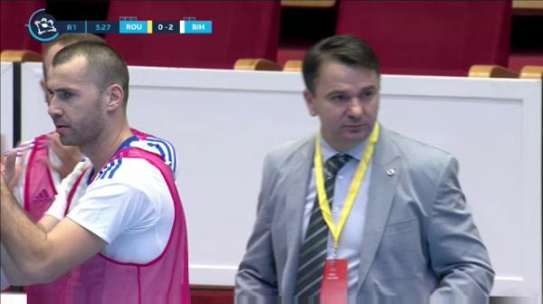 Golul 2 reusit de Anel Radmiljovic in Romania - Bosnia-Hertegovina.