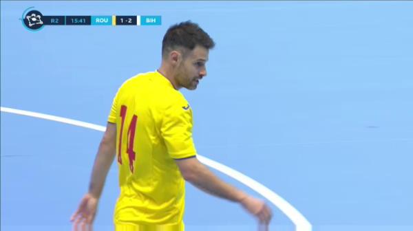 Primul gol al Romaniei in meciul cu Bosnia-Hertegovina, inscris de Paulo Ferreira.