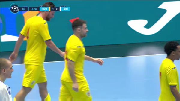 Al doilea gol al Romaniei in meciul cu Bosnia-Hertegovina, inscris de Marius Matei.