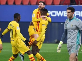 Barcelona ramane in lupta pentru titlu! Noul pusti-minune al catalanilor a inscris primul gol pentru echipa lui Koeman, Messi a dat doua pase decisive! AICI tot ce s-a intamplat in Osasuna 0-2 Barcelona