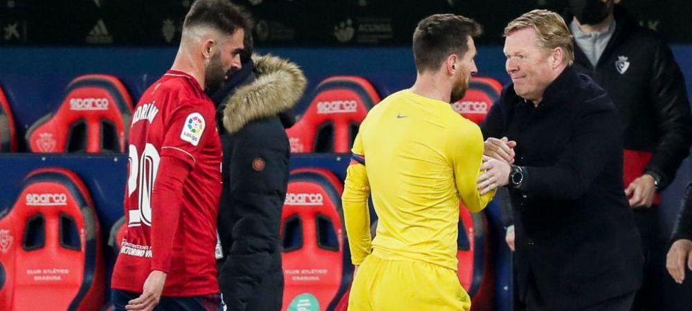 """""""Este bine ca el si Leo au un trecut impreuna!""""Koeman crede ca Messi va ramane la Barcelona dupa ce Laporta a castigat alegerile"""