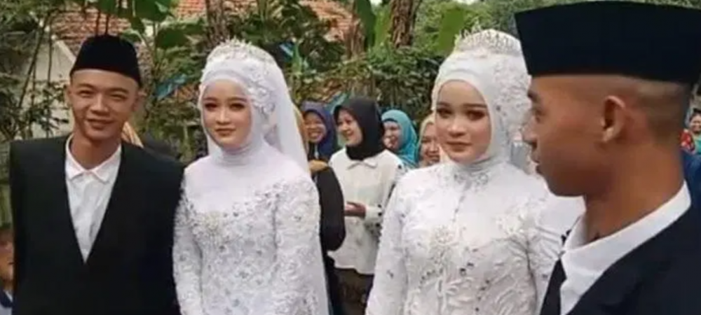 Caz incredibil! Gemenii care s-au casatorit cu surori identice! S-au mutat impreuna imediat dupa nunta