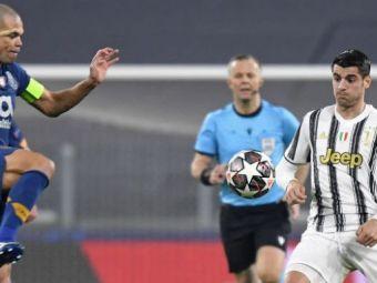 VIDEO   Moment INCREDIBIL surprins de camere in Juventus - Porto! Pepe l-a imitat pe Morata dupa ce l-a pus la pamant