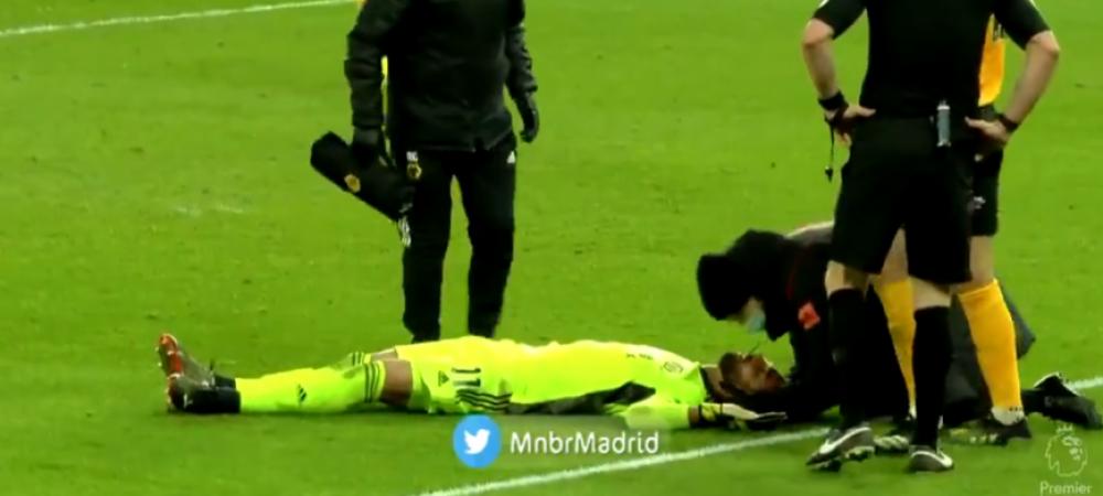 Accidentare CUTREMURATOARE in Premier League! Rui Patricio, lasat la pamant dupa ce un coleg i-a dat un genunchi in cap! Atentie, imagini cu puternic impact emotional
