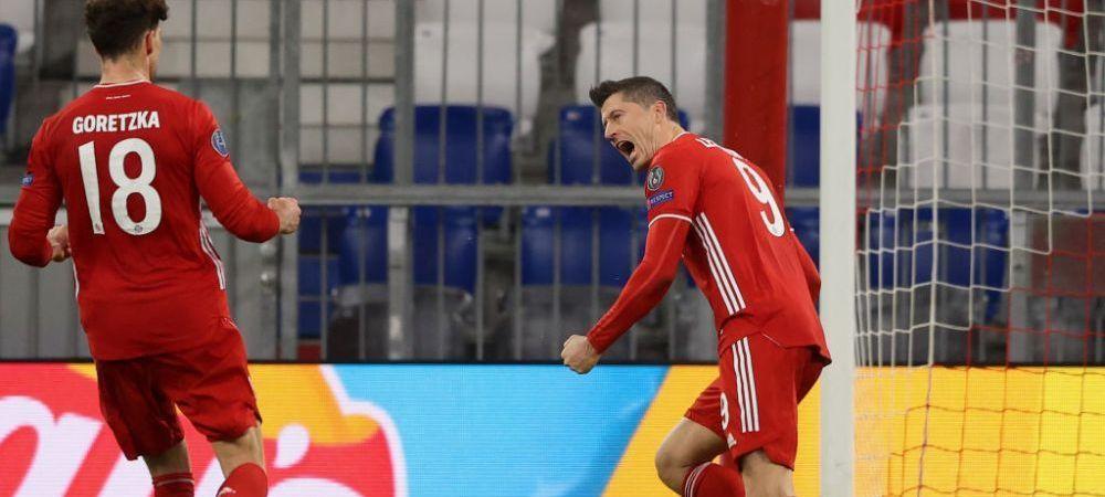 Lewandowski, langa colosii Ronaldo si Messi! Cifrele INCREDIBILE ale golgheterului lui Bayern in fazele eliminatorii ale Champions League