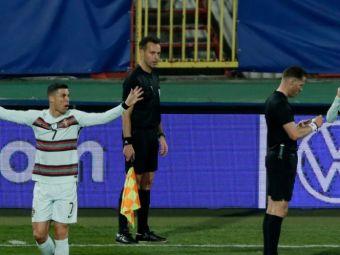 """Arbitrul care nu a validat golul lui Ronaldo contra Serbiei rupe tacerea! """"Lucram mult pentru a lua cele mai bune decizii!"""""""