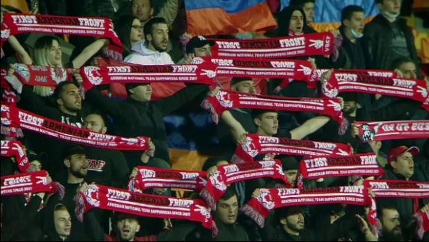 Ce Covid? Suporterii armeni au luat cu asalt stadionul la meciul cu Romania fara distantare si masti de protectie