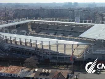Imagini de senzatie cu noul stadion Rapid! S-au montat primele parti din nocturna, urmeaza gazonul. Cum arata azi arena si ce nume e cel mai probabil sa poarte