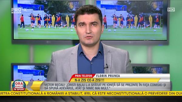 """Florin Prunea sare in apararea lui Sovre! """"A fost un gest nobil!"""" Ce spune despre situatia de la Dinamo si arbitrajul lui Barsan"""