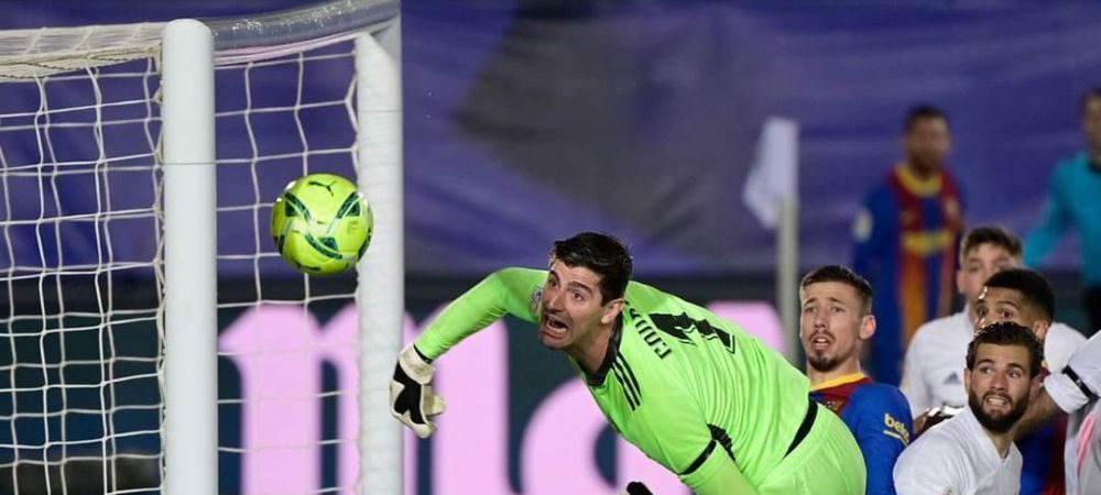 E faza care face inconjurul lumii dupa El Clasico! Messi, la un pas sa-i dea gol din corner lui Real! Courtois, reactie fantastica! VIDEO