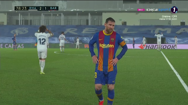 Imagini incredibile cu Messi la Madrid! A inceput sa tremure pe teren dupa potopul din repriza a doua! Ce s-a intamplat