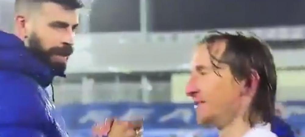 """Clipul care face senzatie pe internet dupa El Clasico! Modric l-a luat la misto pe Pique: """"Acum astepti momentul sa va plangeti, nu?"""""""
