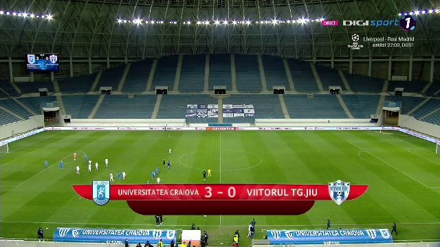 Craiova 3-0 Viitorul Pandurii   Craiova castiga fara emotii si e ca si calificata in finala Cupei Romaniei!