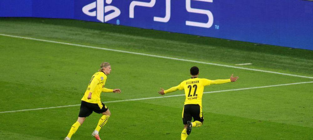 Gol senzational pentru pustiul lui Dortmund in poarta lui City! Bellingham, la primul gol in Champions League! A doborat doua recorduri