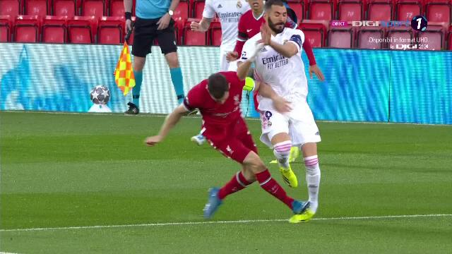 Trebuia eliminat Milner inca din minutul 1 al meciului cu Real?! Fault extrem de dur al englezului asupra lui Benzema! Faza la care banca Realului a sarit in aer