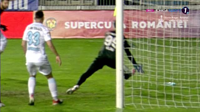 Faza controversata in Supercupa Romaniei! Vlad a respins de pe linia portii lovitura de cap a lui Ben Youssef! Jucatorii CFR-ului au cerut sa se acorde gol