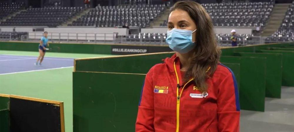 A uitat ca e capitanul echipei?! Monica Niculescu nu a stat pe banca in primele 20 de minute ale meciului castigat de Gabriela Ruse impotriva Jasminei Paolini