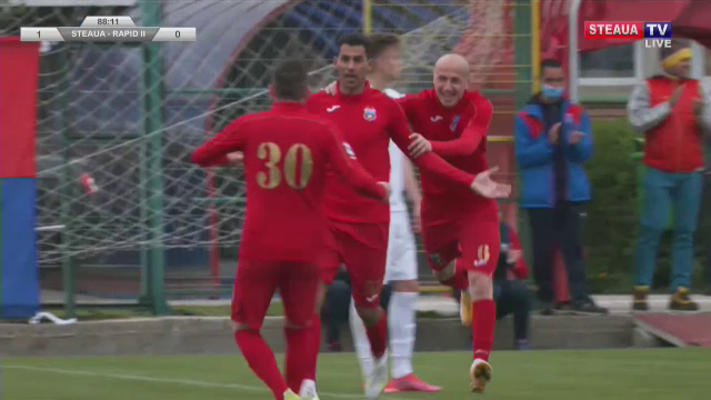 Victorie cu emotii pentru Steaua! Echipa lui Oprita, doua goluri in ultimele zece minute cu Rapid 2! Aici ai tot ce s-a intamplat in Steaua 2-0 Rapid 2 si cum arata clasamentul