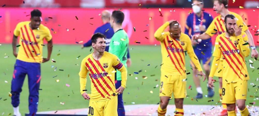 """""""E foarte special sa fiu capitanul acestui club!"""" Messi, in extaz dupa ce a castigat finala Cupei Spaniei! Reactia lui Leo dupa zvonurile aparute in presa"""