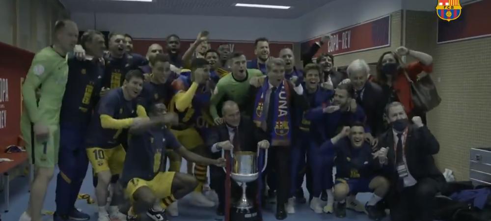 S-au dezlantuit in vestiar! Laporta s-a dus peste jucatorii Barcelonei dupa finala Cupei! Imagini de senzatie