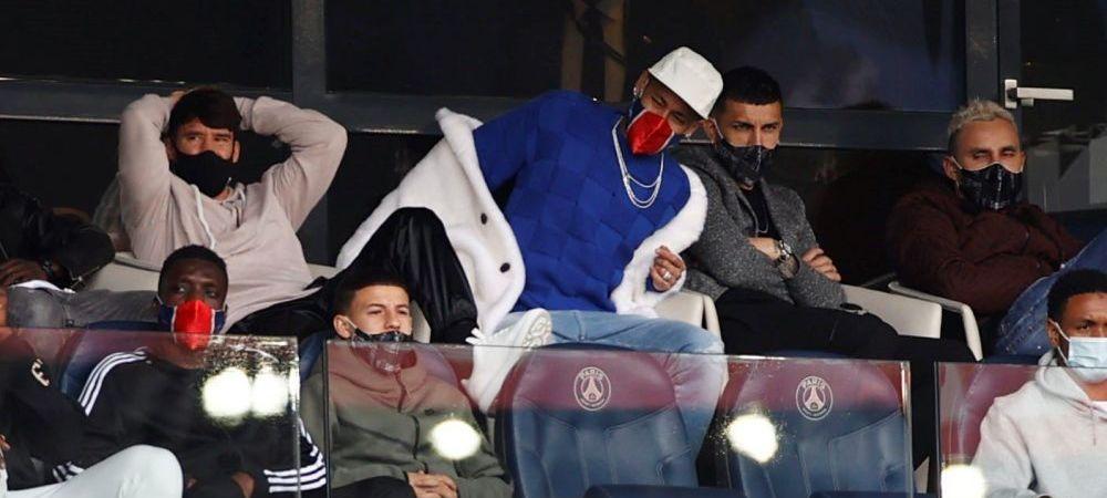 50 Cent, tu esti?! :)) Neymar a furat toate privirile in tribune la meciul lui PSG! Cum a putut sa apara starul brazilian