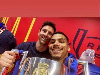 """""""Imi cer scuze, iubito!"""" S-a pozat cu Messi in vestiar, iar imaginea a devenit virala! Ce a putut sa spuna"""