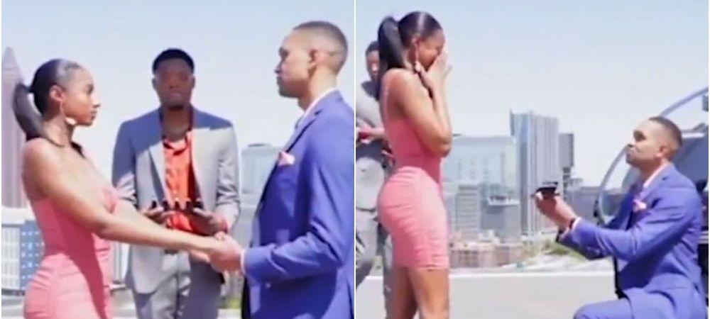 Nu i-a ajuns un singur inel! Acest barbat si-a cerut iubita in casatorie cu cinci inele! Motivul incredibil