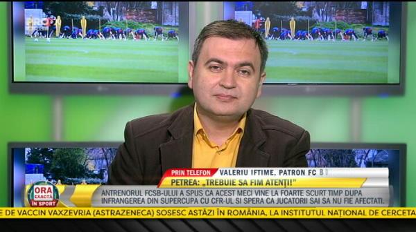 """EXCLUSIV   Valeriu Iftime, mesaj razboinic inainte de meciul cu FCSB: """"Vrem 3 puncte!"""" Raspuns dupa acuzatiile de blat: """"Ii consider depasiti pe acesti oameni!"""""""