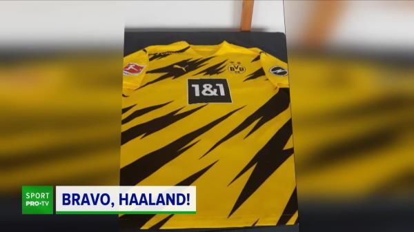 Gestul incredibil facut de Haaland pentru Sovre dupa ce arbitrul i-a cerut un autograf pentru a-l dona! Ce a facut fotbalistul Borussiei Dortmund