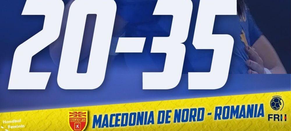 Masacru cu Macedonia: 35-20! Romania a castigat la 15 goluri in deplasare si merge la Mondial