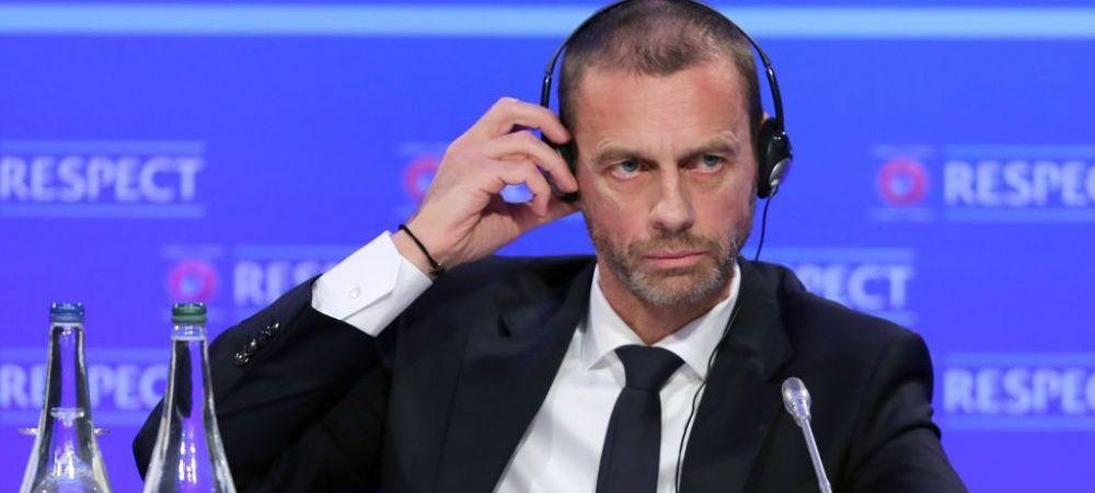 """Ironii la adresa echipelor care au fondat Super Liga: """"Sunt ca oamenii care cred ca pamantul e plat!"""" Ce a spus presedintele UEFA"""