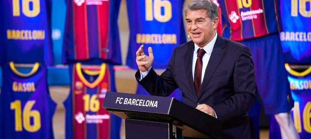 """Laporta inca mai crede in Super Liga: """"Este o necesitate!"""" Ce a spus presedintele Barcelonei despre conflictul cu UEFA"""