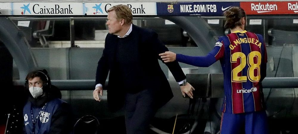 Koeman, mai furios ca niciodata! Jucatorul care l-a umplut de nervi pe antrenorul Barcelonei a fost schimbat imediat! Imaginile momentului