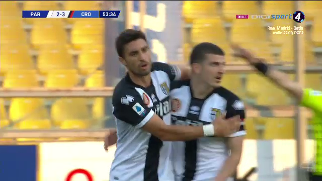 Parma 3-4 Crotone | GOOOOL MIHAILA!!! Romanul a marcat cu un sut imparabil de la 11 metri. Parma, ca si retrogradata dupa un meci nebun