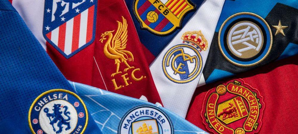 Barcelona si Real Madrid ar fi putut castiga sume uriase pentru infiintarea Super Ligii! Cat trebuiau sa incaseze fiecare dintre cele 12 cluburi fondatoare
