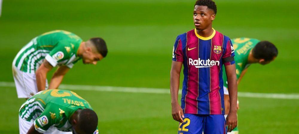 Barcelona il blindeaza pe 'pustiul-minune' Ansu Fati! Contractul pe care Laporta e pregatit sa il ofere