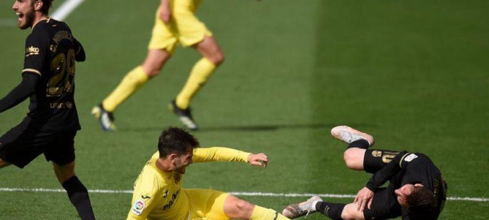 Soc pentru fanii Barcelonei! Messi, pus la pamant dupa o intrare criminala cu talpa pe tibie! Ce s-a intamplat dupa incident