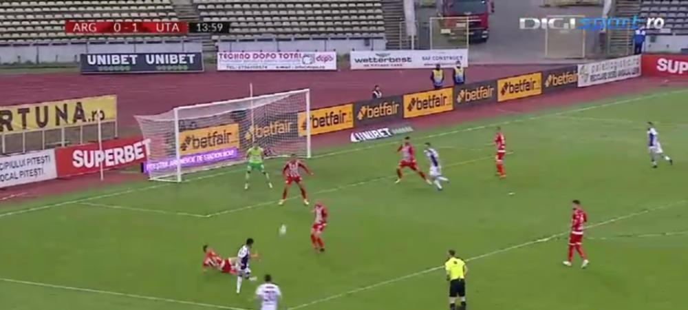 VIDEO | Goluri senzationale marcate de Grecu si Draghici pentru FC Arges, care a intors scorul cu UTA inainte de pauza