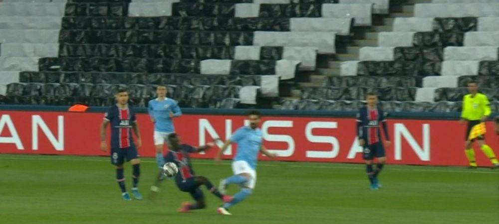 Atac socant in Champions League! PSG a ramas in 10, Gundogan a inceput sa planga pe teren. Atentie, imagini horror
