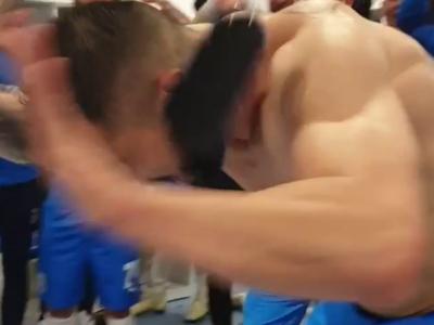 Nebunie in vestiarul Craiovei dupa 2-0 cu FCSB! Constantin si Nistor au dat drumul la forta! :)