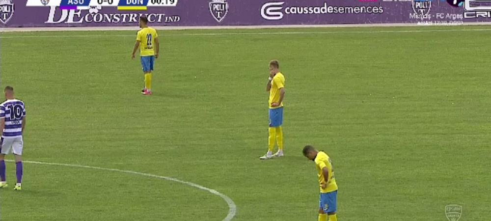 Protest al jucatorilor de la Dunarea Calarasi la meciul cu ASU Poli Timisoara! Ce s-a intamplat imediat dupa fluierul de start