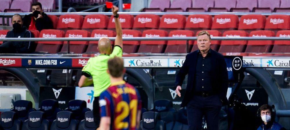 Probleme pentru Barcelona! Catalanii, fara antrenor la meciurile cu Valencia si Atletico! Koeman si-a aflat sanctiunea dupa ce a fost eliminat cu Granada